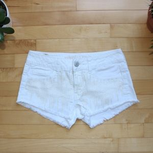 White sequined American Eagle Shorts